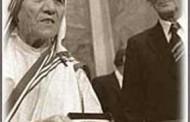 Nobel per la Pace a Madre Teresa di Calcutta