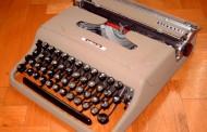 Le macchine per scrivere degli anni '70